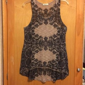 Ginger G High/low Sleeveless Blouse